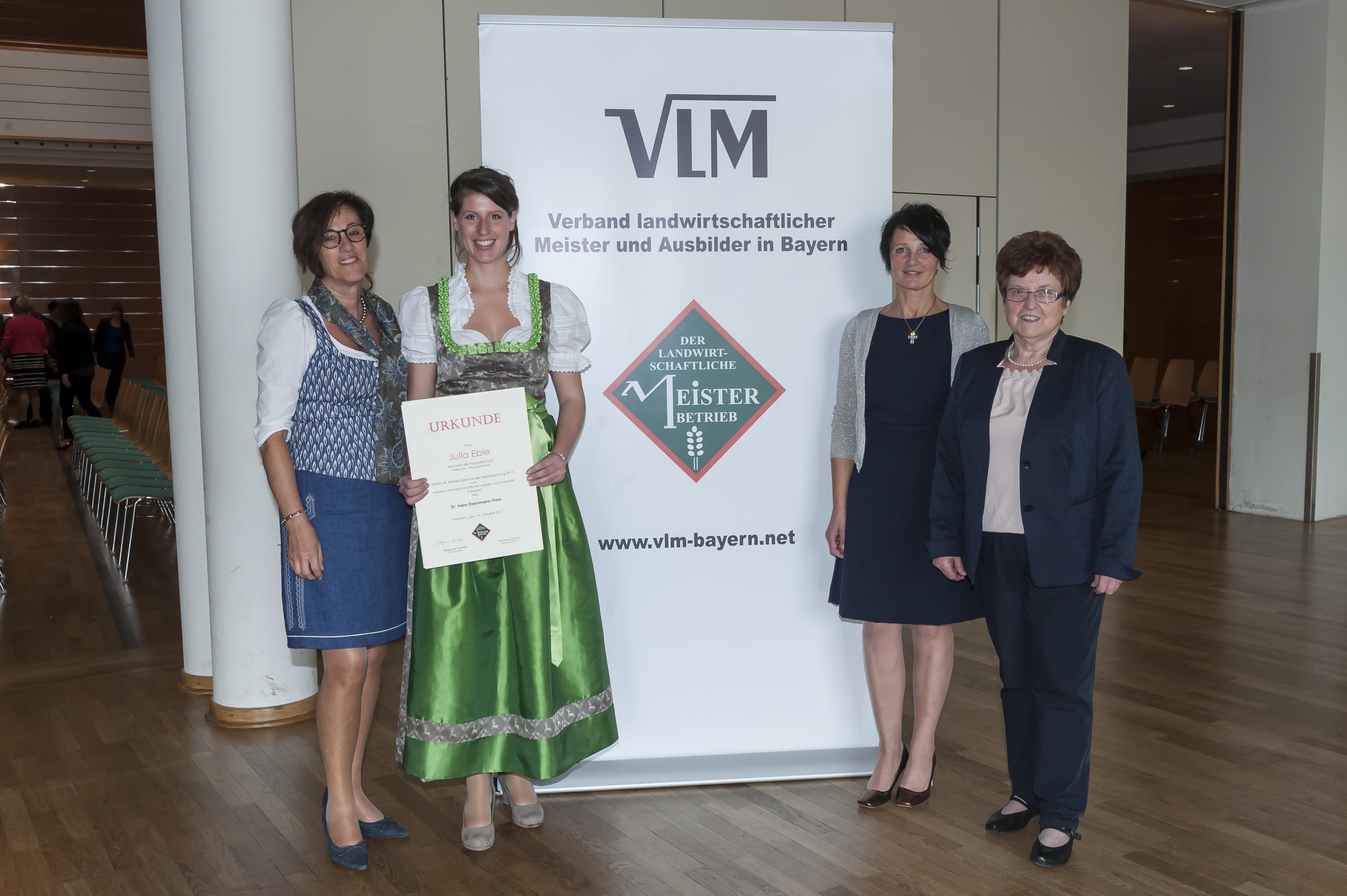 MR Gisela Miethaner, Julia Eble, VLM-Vorsitzende Dagmar Hartlebund BayLaH-Vorsitzende Elisabeth Forster (Foto: A. Grossmann-Nörr)